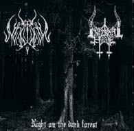INFERNAL HATE / LUPUS NOCTURNUS : Night on the Dark Forest